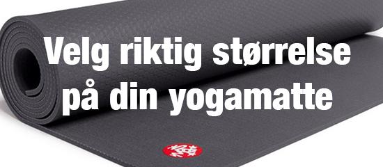 Velg riktig størrelse på yogamatten