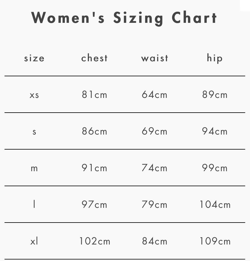 women-sizes