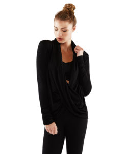 Long Sleeve Twist Front Top