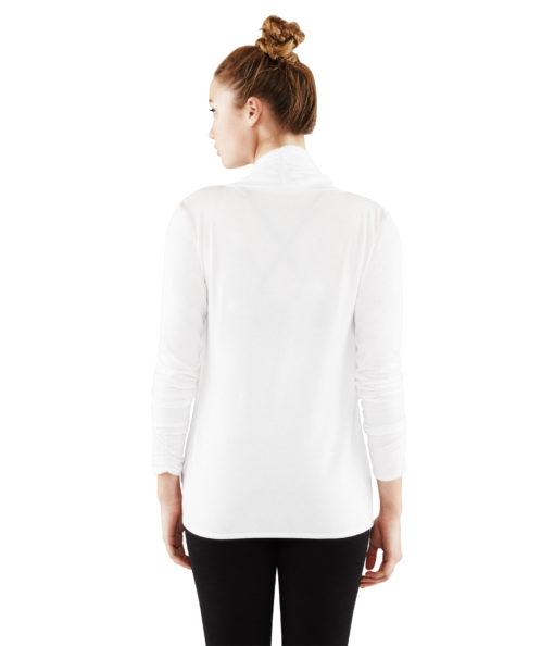 Long Sleeve Twist Front Top