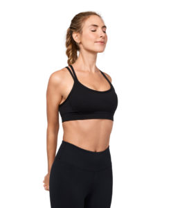 Manduka cross strap bra black yoga-bh