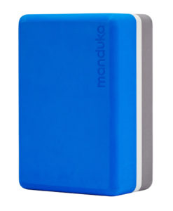 Manduka recycled foam block- yogablokk Be Bold Blue