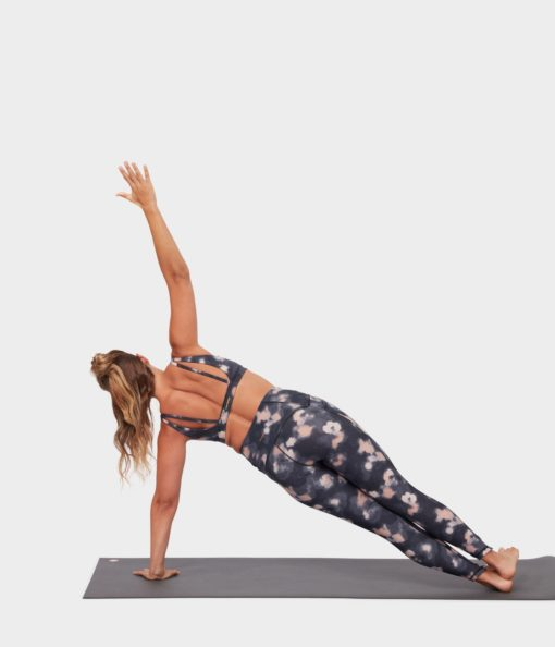 manduka presence legging swash floral neutrals yoga tights
