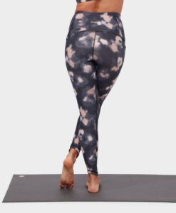 manduka presence legging swash floral neutrals yoga tights